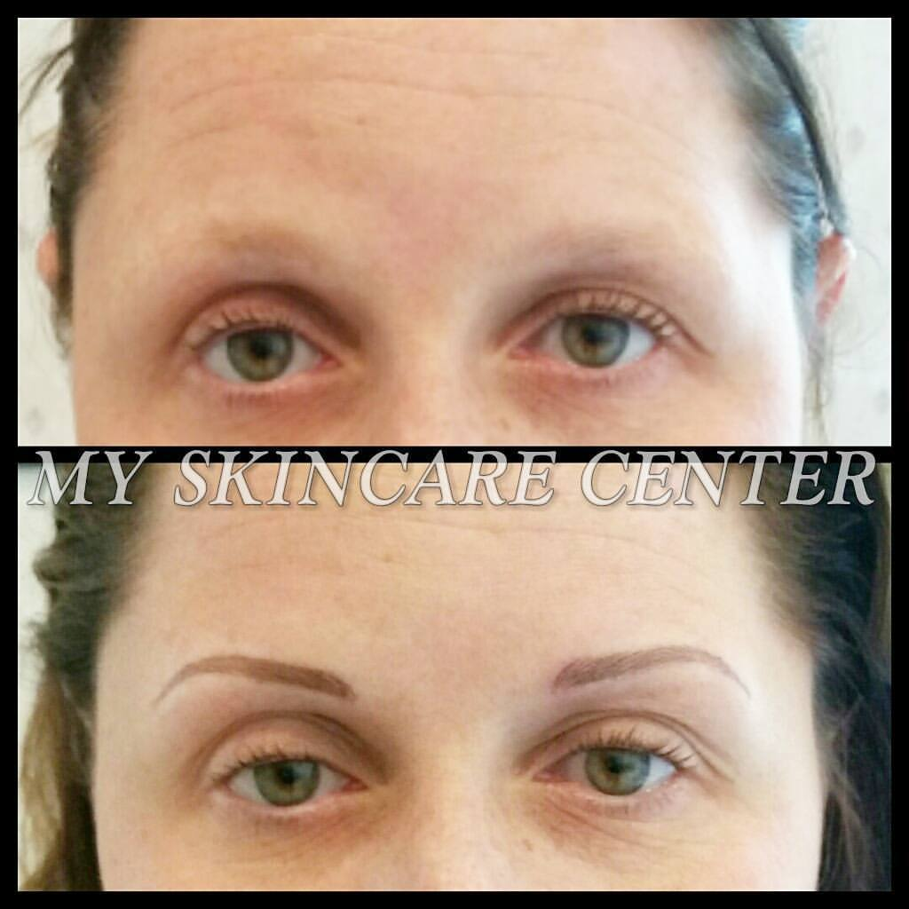 Permanent Makeup Eyebrows before & after