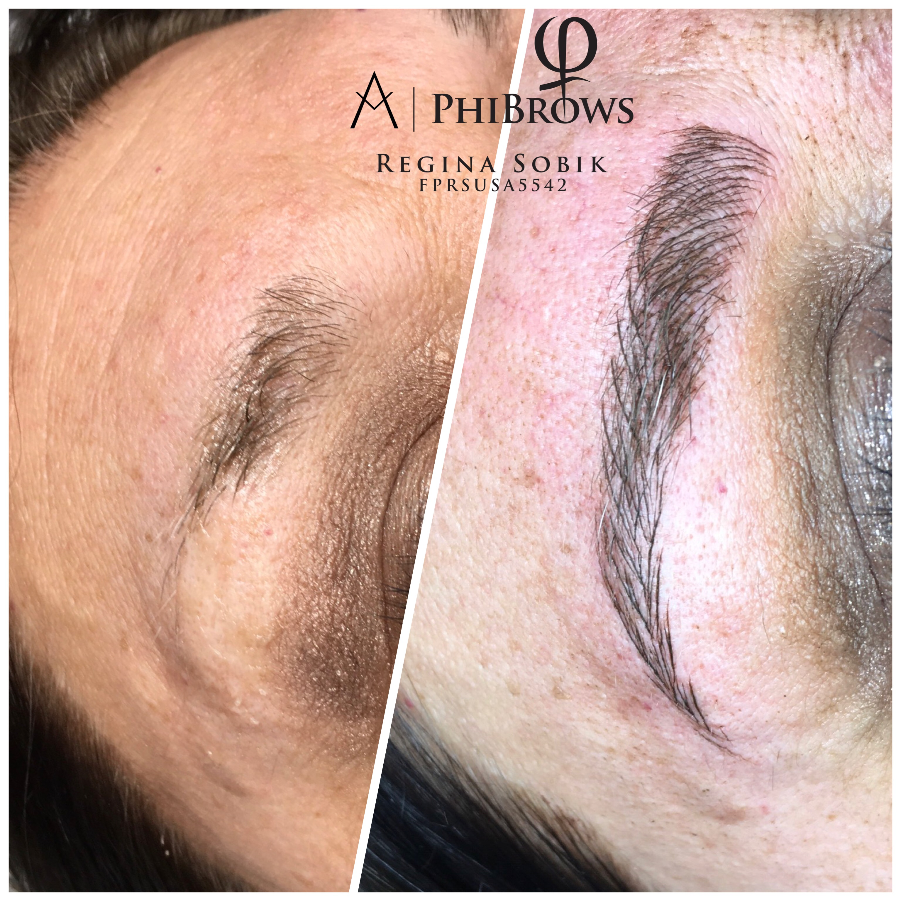 Microblading Phibrow before & after