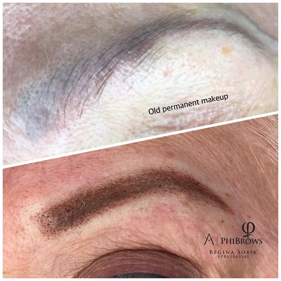 Microblading Ombre Brows before & after