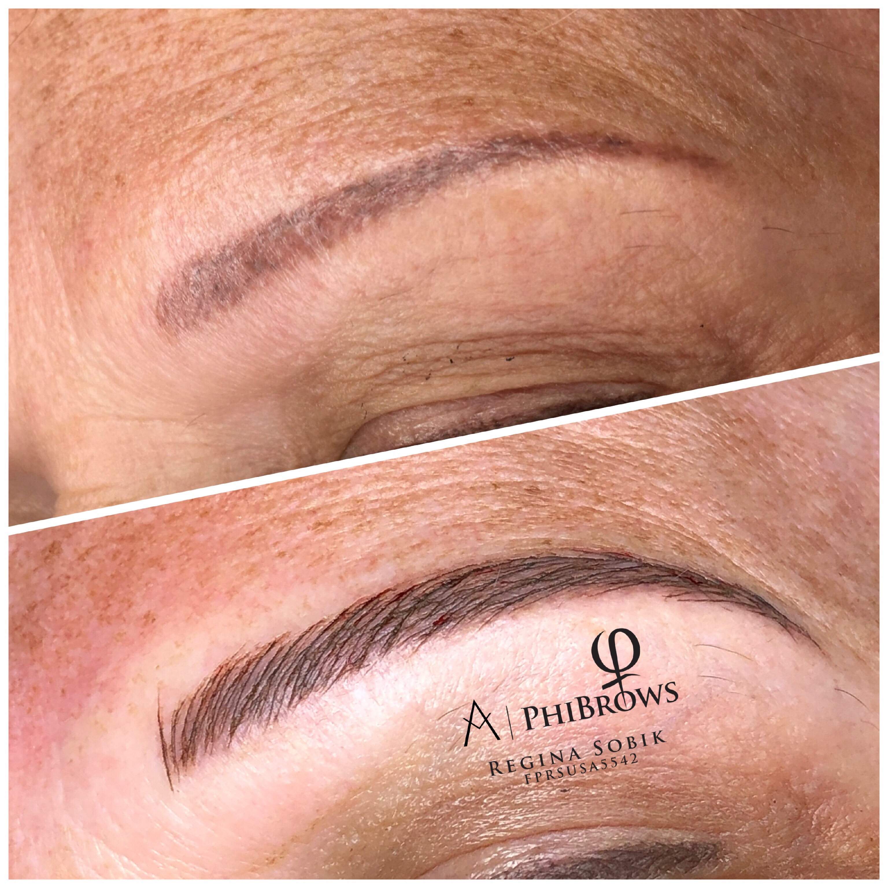 Microblading touchup after 2 years